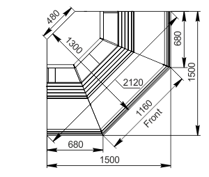 Витрины Georgia AG 119 deli OS 125-DLA-ES90