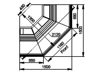 Вітрини Georgia AG 119 deli OS 125-DLA-ES90