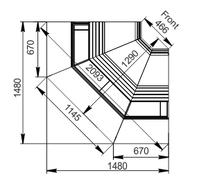 Вітрини Sonata AG 119 deli OS 125-SBA-IS90