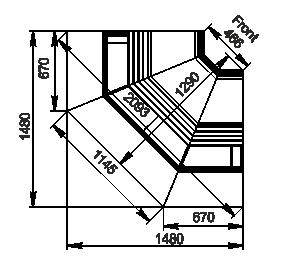Вітрини Georgia AG 119 deli OS 125-SBA-IS900
