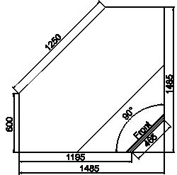 Kühlvitrinen Georgia NG 119 cash desk 125-IS90