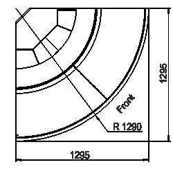 Витрина Georgia MG 114 deli PS 125-DLM-ER45