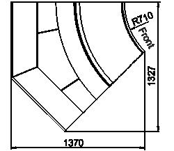 Витрина Georgia MG 114 deli PS 125-DLM-IR45
