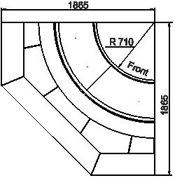 Витрина Georgia MG 114 deli PS 125-DLM-IR90