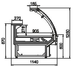 Вітрина Georgia MG 114 deli PS 125-DLM
