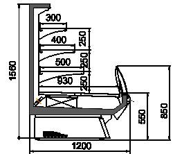 Kühlvitrinen Symphony luxe MG 120 cascade self 160-DLM