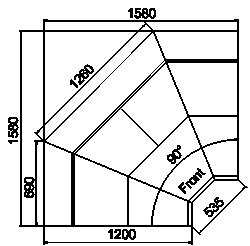 Kühlvitrinen Symphony luxe MG 120 deli T/T2 110-DLM-IS90