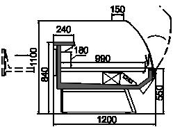 Kühlvitrinen Symphony luxe MG 120 patisserie T 110-DLM