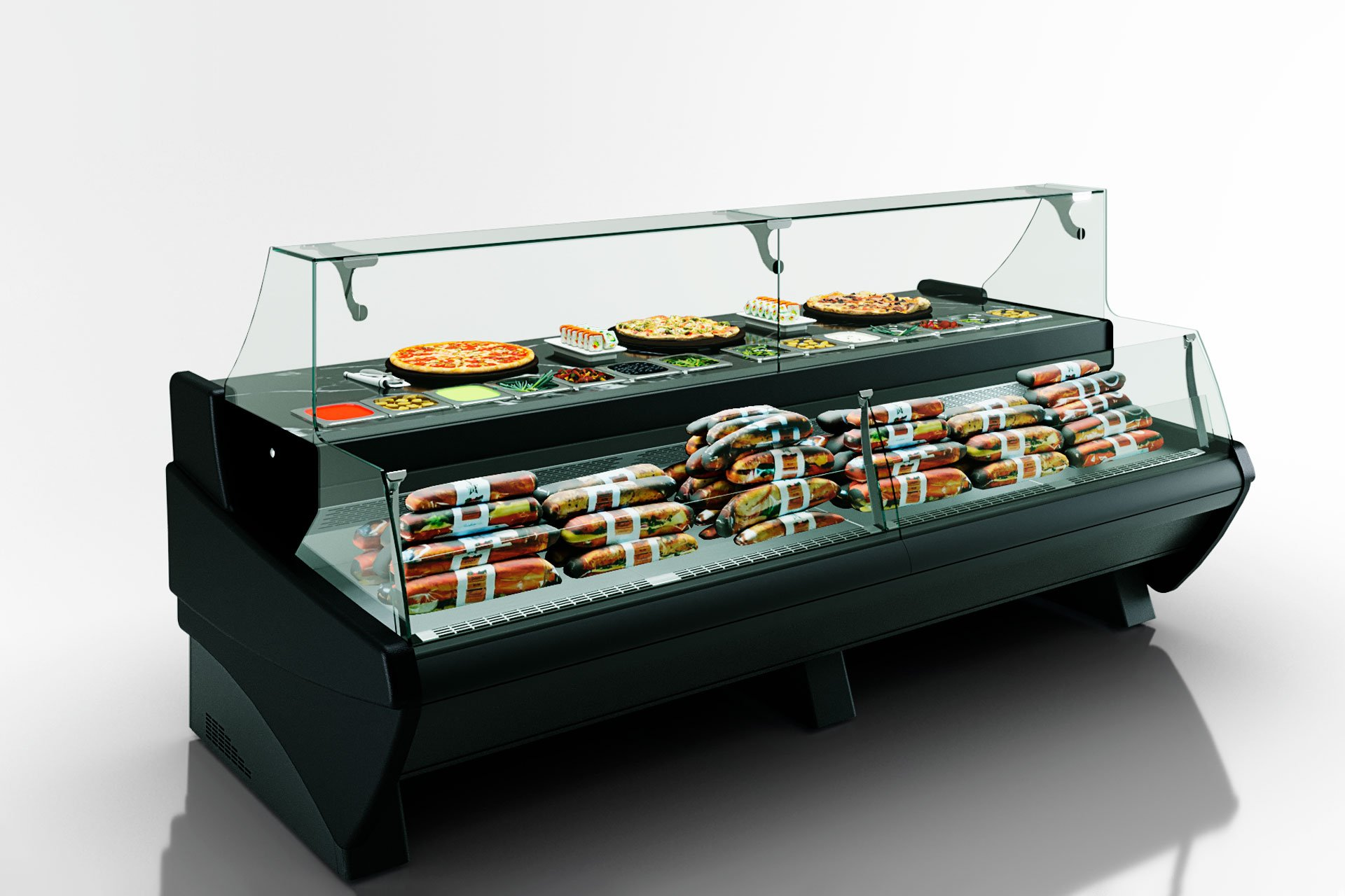 Вітрини Symphony luxe MG 120 sushi/pizza combi L/self 125-DBM