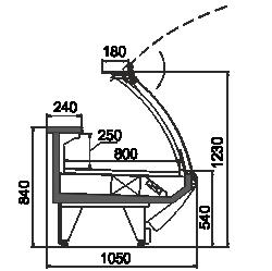 Kühlvitrinen Symphony MG 100 deli PS 125-DLM/DLA