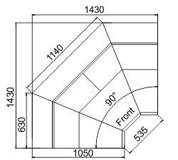 Kühlvitrinen Symphony MG 100 deli T/T2 110-DLM/DLA-IS90