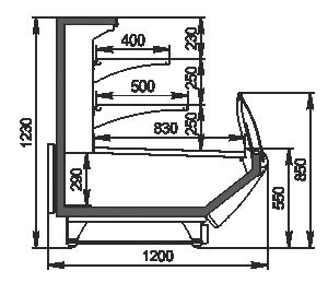 Вітрини Symphony MG 120 cascade self 125-DBM
