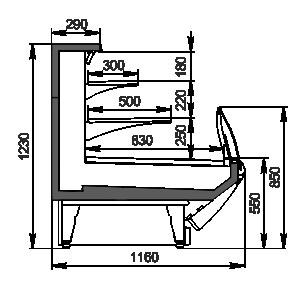 Refrigerated counters Symphony MG 120 cascade self 125-DLM