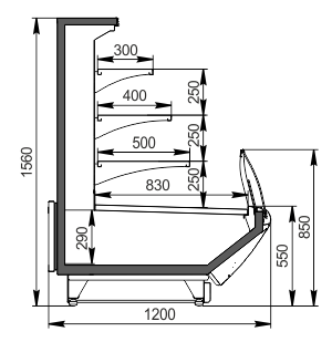 Витрины Symphony MG 120 cascade self 160-DBM