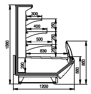 Холодильна вітрина Symphony MG 120 cascade self 160-DBM