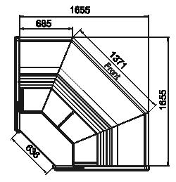 Kühlvitrinen Symphony MG 120 deli PS/OS/self 125/085-DLM-ES90