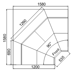 Kühlvitrinen Symphony MG 120 deli T-T2 110-DLM-IS90