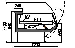 Kühlvitrinen Symphony MG 120 LT T2 110-DLM