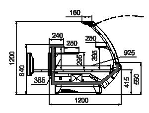 Kühlvitrinen Symphony MG 120 patisserie PS 125-DLM