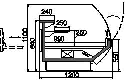 Kühlvitrinen Symphony MG 120 patisserie T2 110-DLM