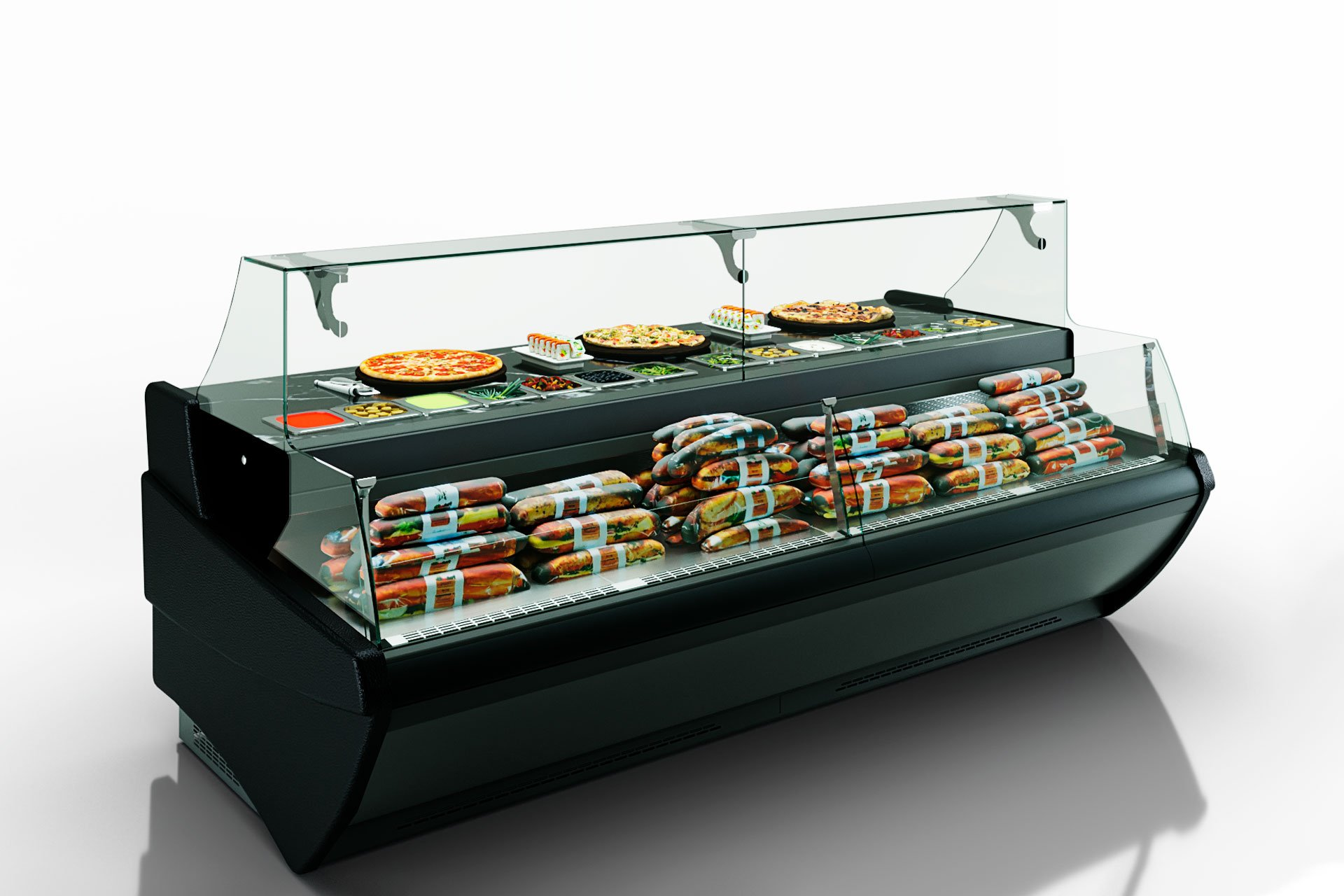 Counters Symphony MG 120 sushi/pizza combi L self 125-DBM
