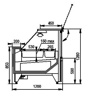 Теплова вітрина Missouri NС 120 Heat BM OS 130