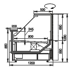 Холодильная витрина Missouri MC 120 deli RS 130-DBM