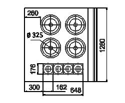 Холодильная витрина Missouri NC 120 tureen PS 130