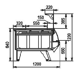 Холодильная витрина Symphony luxe NG 120 heat HS L 125