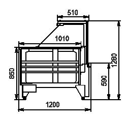 Vitrinen Missouri NC 120 PP 130-IS45