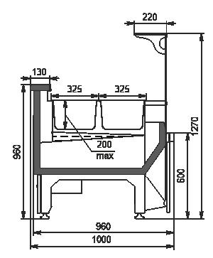 Холодильная витрина Missouri NC 100 heat BM L 130