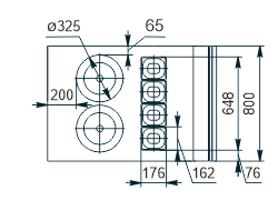 Холодильна вітрина Missouri NC 120 tureen 2 PP 130 option