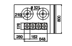 Холодильна вітрина Missouri NC 120 tureen L 130