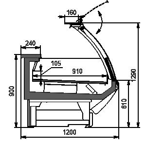 Холодильна вітрина Symphony AG 120 LT PS 129-DLA