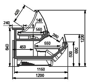 Вітрини Symphony MG 120 combi self 125-D/DBM