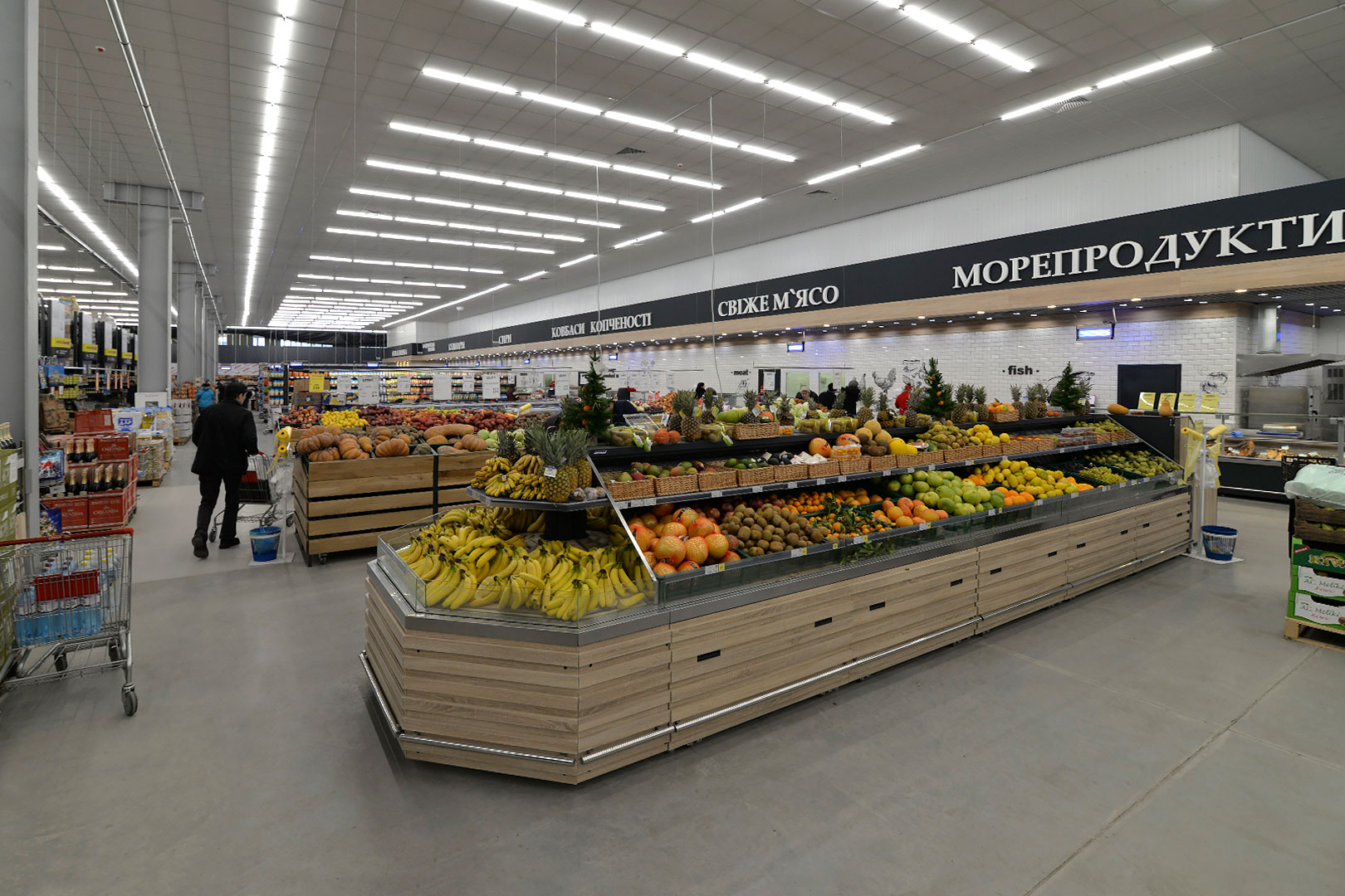 Спеціалізовані вітрини для продажу овочів та фруктів Missouri M VF
