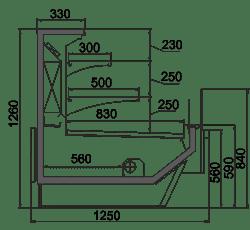 Kühlvitrinen Missouri Enigma MC 125 cascade self 126-DBM