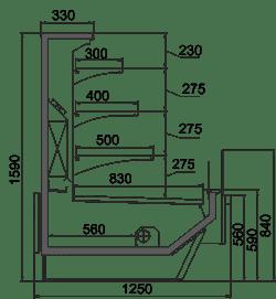 Kühlvitrinen Missouri Enigma MC 125 cascade self 159-DBM