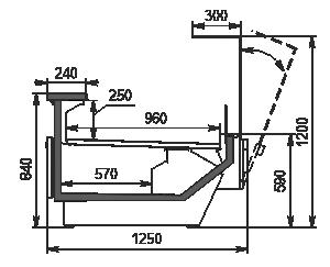Холодильная витрина Missouri enigma MC 125 deli OS 120-DBM
