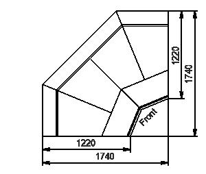 Углові елементи холодильної вітрини Missouri enigma MK 120 deli OS-DBM-IS90