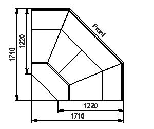 Углові елементи холодильної вітрини Missouri enigma MK 120 deli OS-DLM-ES90