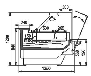 Теплова вітрина Missouri enigma NC 125 heat BM OS 120