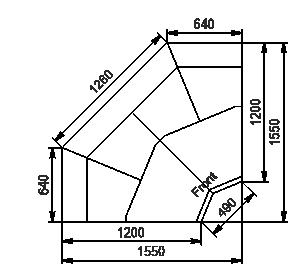 Winkelelemente von Kühlvitrinen Missouri enigma MK 120 deli OS-DBM-IS90