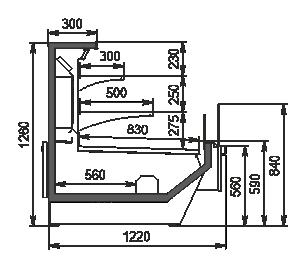 Холодильна вітрина Missouri Enigma MC 120 cascade self 130-DBM