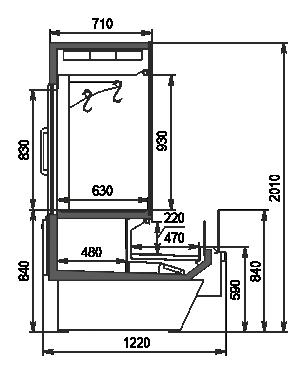 Холодильная витрина Missouri Enigma MC 122 crystal combi S/self 200- S/DBM/DBA