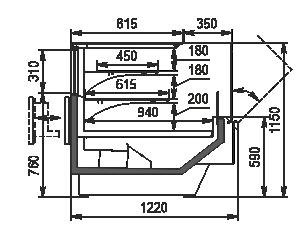 Холодильная витрина Missouri Enigma MC 120 Patisserie OS 115-DLM (option)