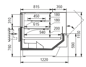 Kühlvitrinen Missouri enigma MC 122 patisserie OS 115-DLM (option)