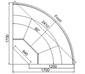 Kühlvitrinen Missouri enigma MC 125 deli OS/self 120/084-DBM-ER90