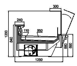 Вітрини Missouri enigma MC 125 fish OS 120-SLА