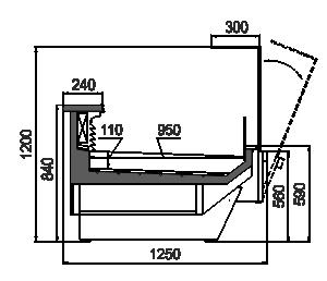 Витрина Missouri enigma MC 125 fish OS 120-SLM/SLA